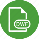 dwf, extension, file, file format icon
