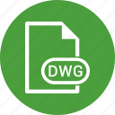 dwg, extension, file, file format icon
