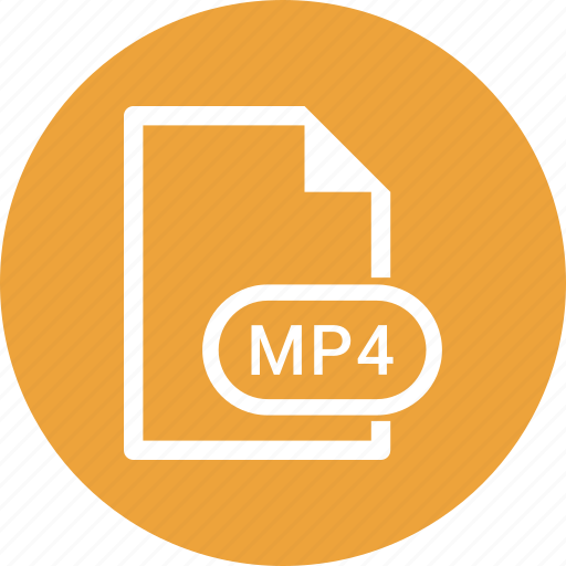 extension, file, file format, mp4 icon