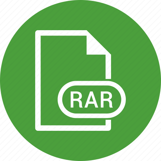 extension, file, file format, rar icon