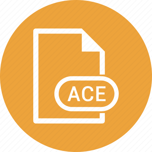 ace, extension, file, file format icon