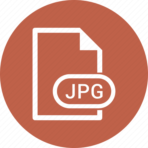 document, extension, file, jpg file icon