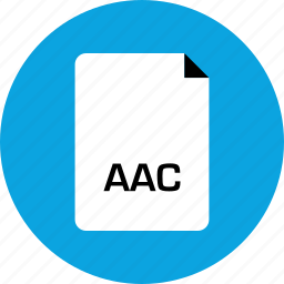 aac, extension, file icon