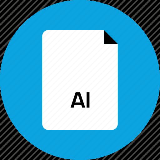 ai illustrator, extension, file icon