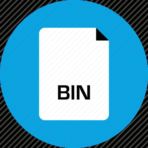 bin, extension, file icon