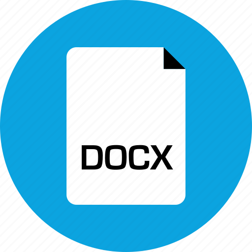 docx, extension, file icon