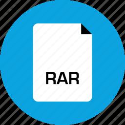 extension, file, rar icon