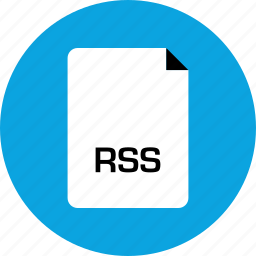 extension, file, rss icon