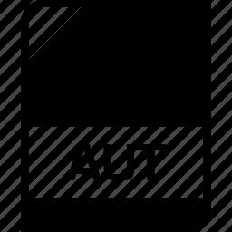 aut, extension, file, name icon
