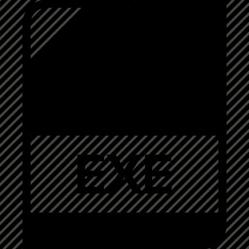 exe, extension, file, name icon