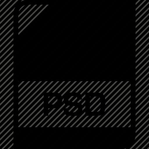 extension, file, name, psd icon