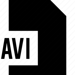 avi, data, file, name icon