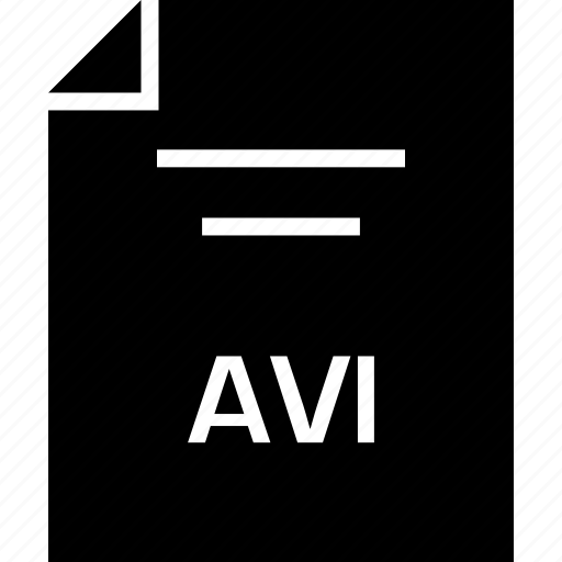 avi, document, extension, name icon