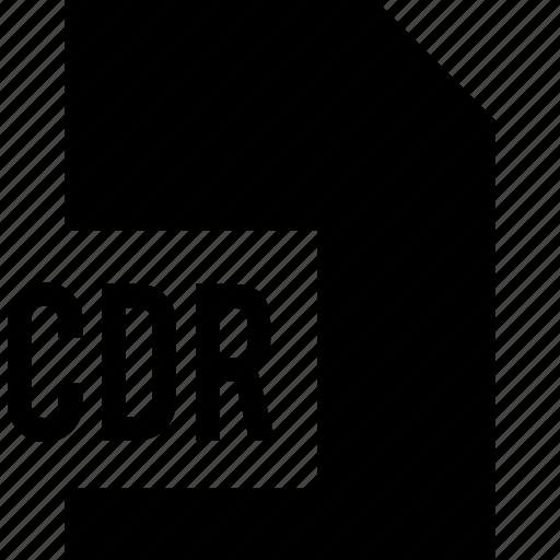 cdr, data, file, name icon