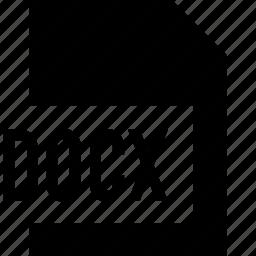 data, docx, file, name icon