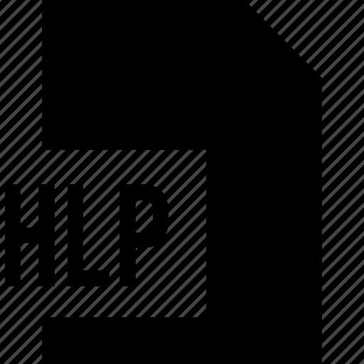 data, file, hlp, name icon
