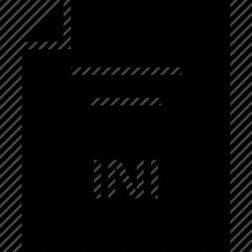 document, extension, ini, name icon