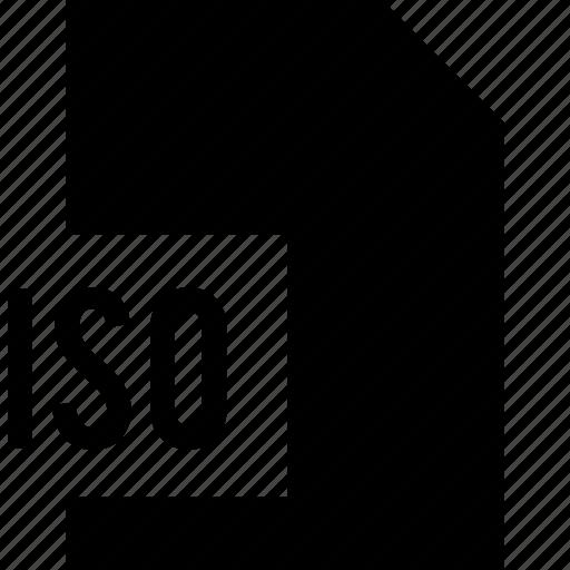 data, file, iso, name icon