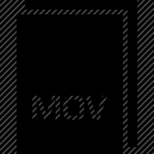 extension, file, mov, name icon