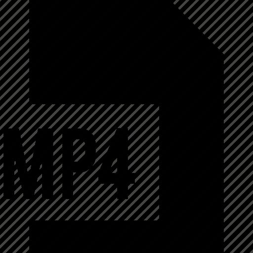 data, file, mp4 icon