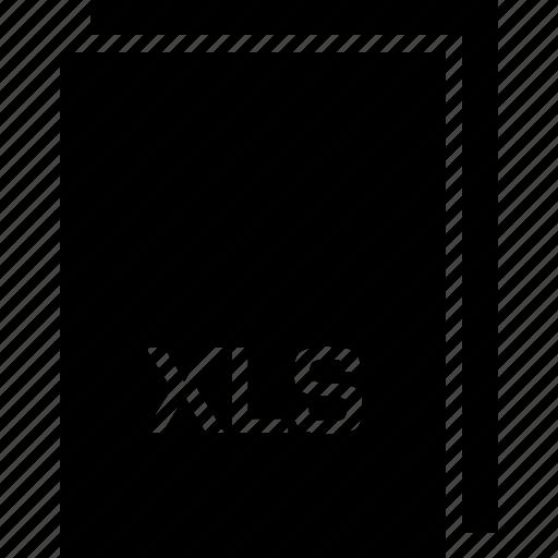 extension, file, name, xls icon