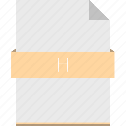 extension, file, format, h, header, programming icon