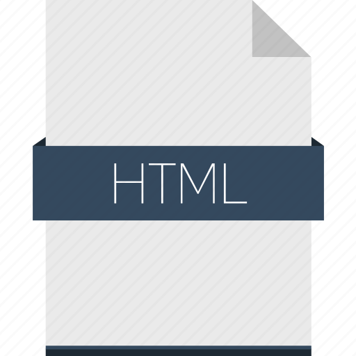extension, file, format, html, web icon