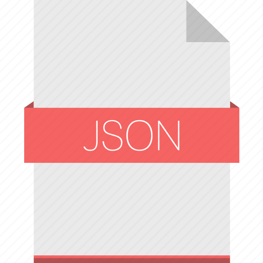 document, extension, file, format, json, xml icon