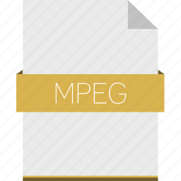 extension, file, format, movie, mpeg icon