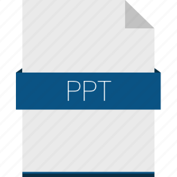 document, extension, file, format, office, powerpoint, ppt icon
