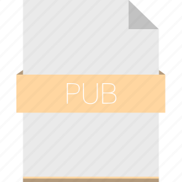 extension, file, format, pdf, pub icon