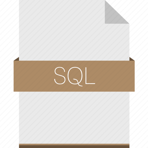 database, extension, file, format, mysql, sql icon