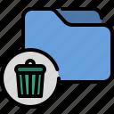 bin, delete, file, folder, reject, remove, trash icon