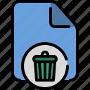 bin, delete, file, format, reject, remove, trash icon