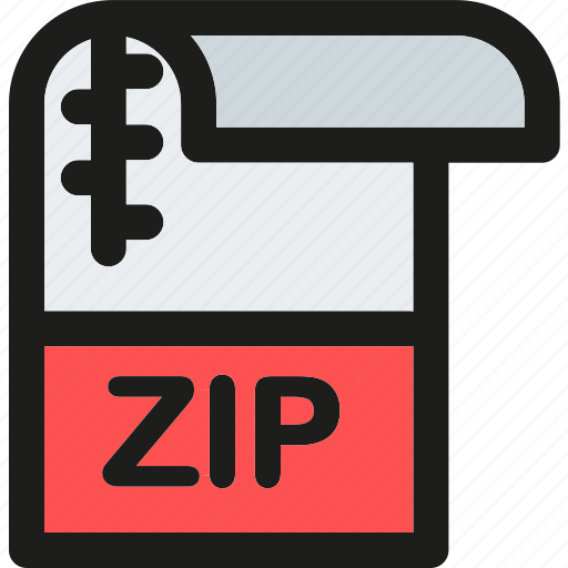 data, document, extension, file, format, paper, zip icon