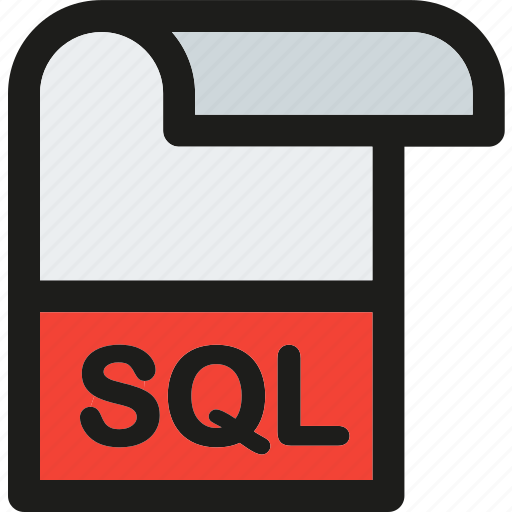 data, document, extension, file, format, paper, sql icon