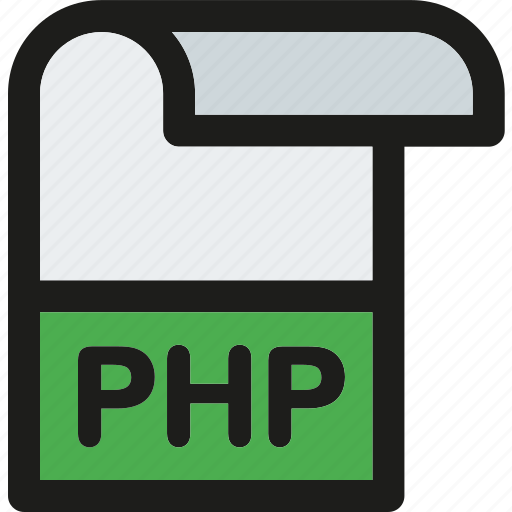 data, document, extension, file, format, paper, php icon