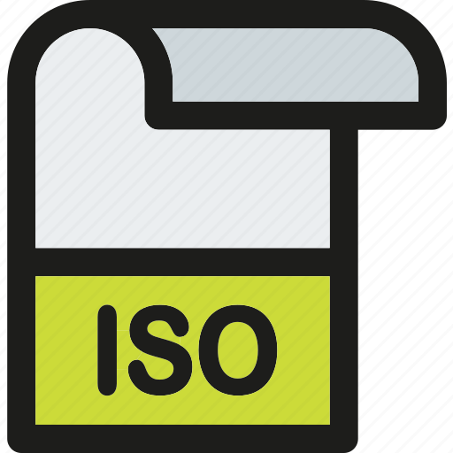 data, document, extension, file, format, iso, paper icon