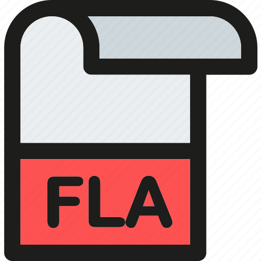 data, document, extension, file, fla, format, paper icon