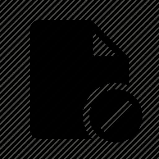 block, document, file, locked icon