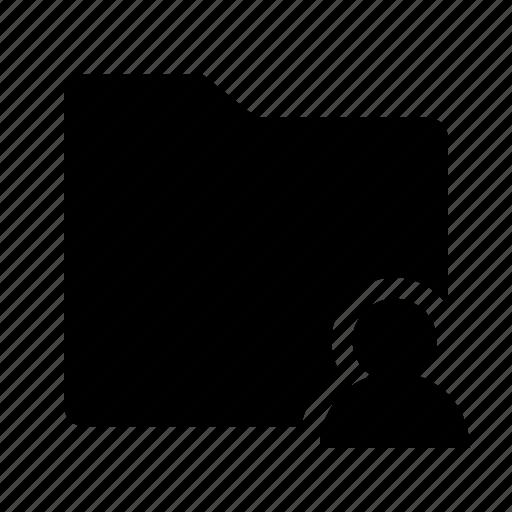 files, folder, user icon