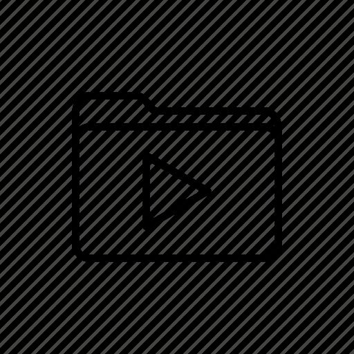 documents, download, files, folder, folders, media, play folder icon