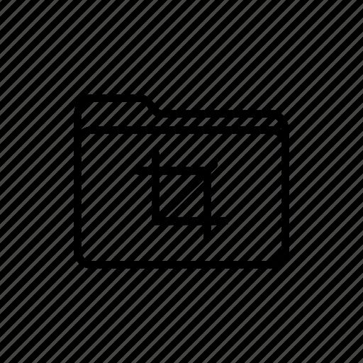 crop folder, crop tool, documents, download, files, folder, folders icon