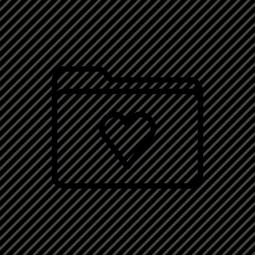 documents, download, favorites folder, files, folder, folders, heart folder icon