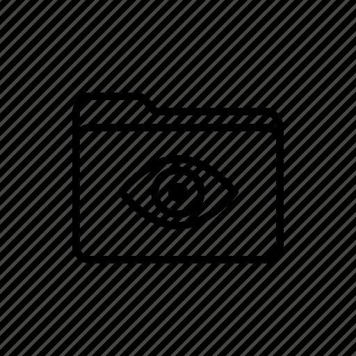 documents, download, eye, files, folder, folders, view folder icon