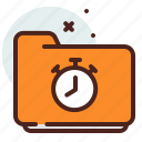 clock, folder, list, office, organizer icon