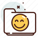 folder, happy, list, office, organizer icon