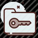 key, folder, list, office, organizer icon