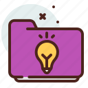 folder, light, list, office, organizer icon