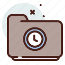 folder, list, office, organizer, time icon